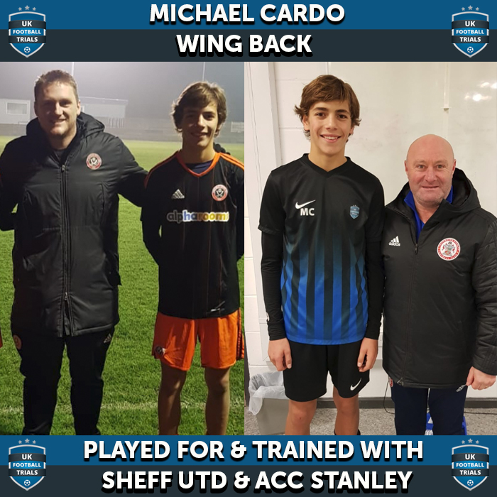 New York Based Michael Cardo Scores Trial With UK Championship Club Sheffield United & LG 1 Club Accrington