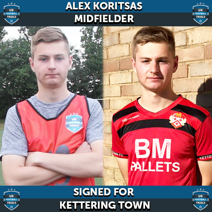 Washington Based Alex Koritsas in Kettering U21's side after attending UK Football Trials.